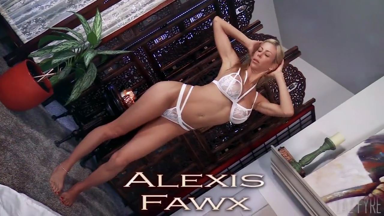 picture of Alexis Fawx in white lingerie